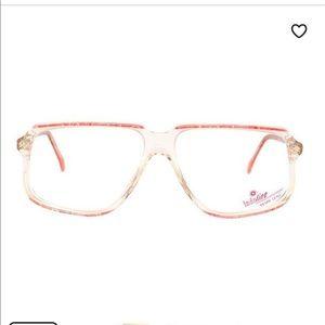Transparent Pink 80's Vintage Eyeglass Frames!